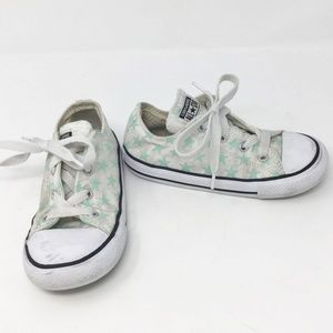 Converse White Green Stars Shoe Sneakers Infant 10